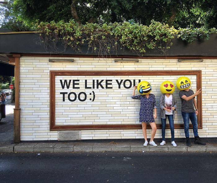 Real Life Emojis In The Streets Of Tel-Aviv