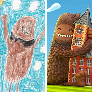 100+ Artists Recreate Kids' Monster Doodles In Their Unique Styles (2016)