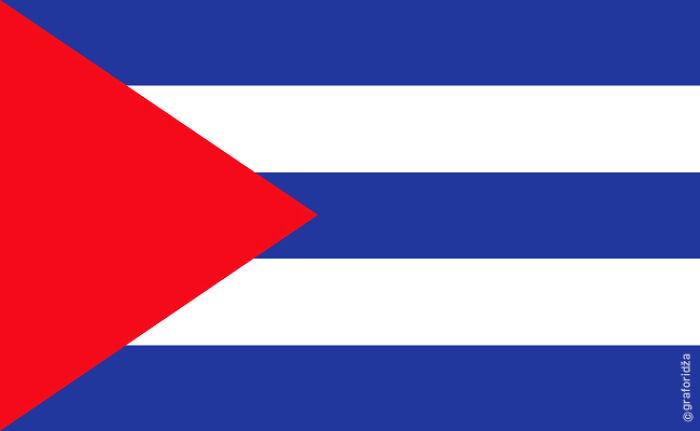 Cuban Flag After Castro