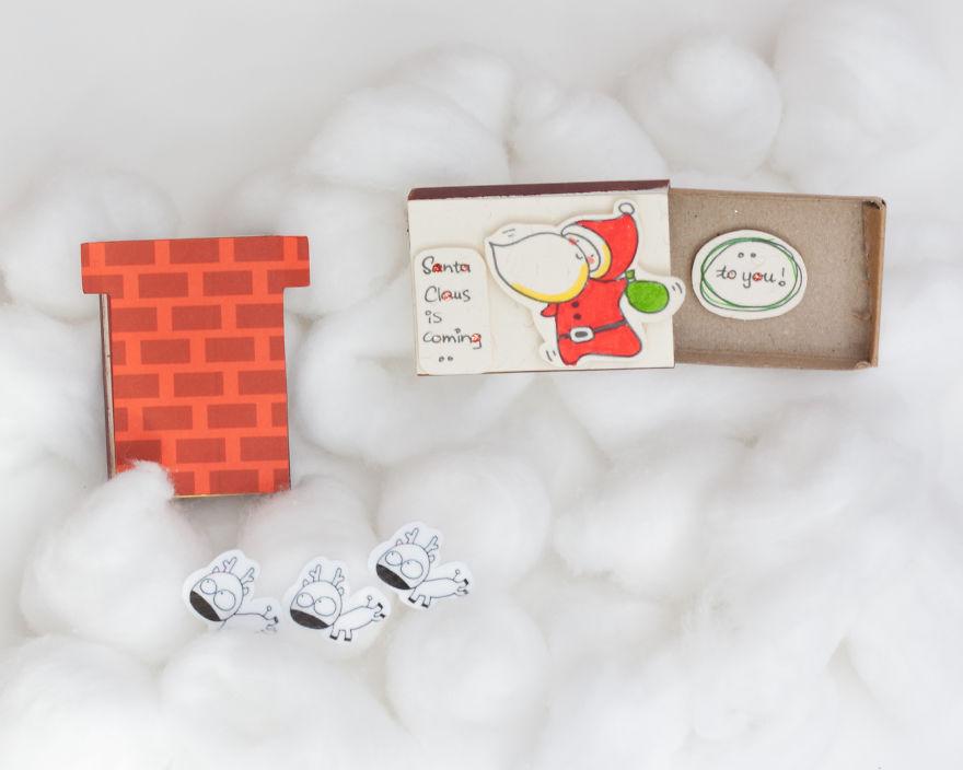 Surprise Messages Hidden In Little Matchboxes
