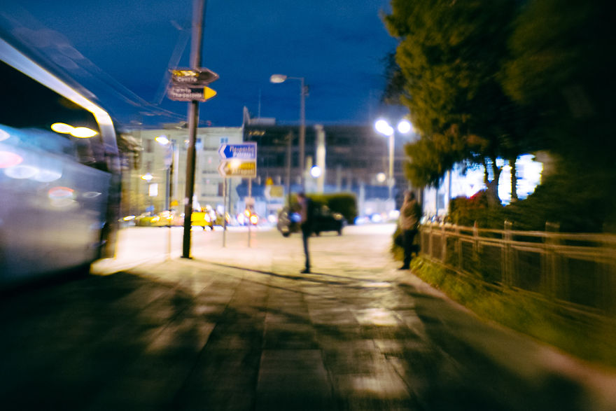Using Plastic Lens, I Captured How December Nights Feel In Athens, Greece