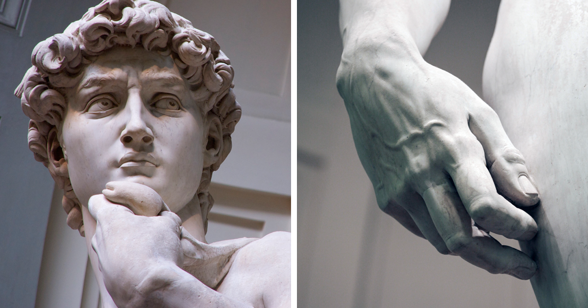 michelangelo s sculpture david This masterpiece of christian art captures the moment of anxious thought between david's decision to fight goliath and the fight itself michelangelo's greatest statue.