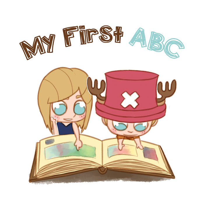 My First Abc: Artist Illustrates Alphabet Book Based On Pop Culture Characters