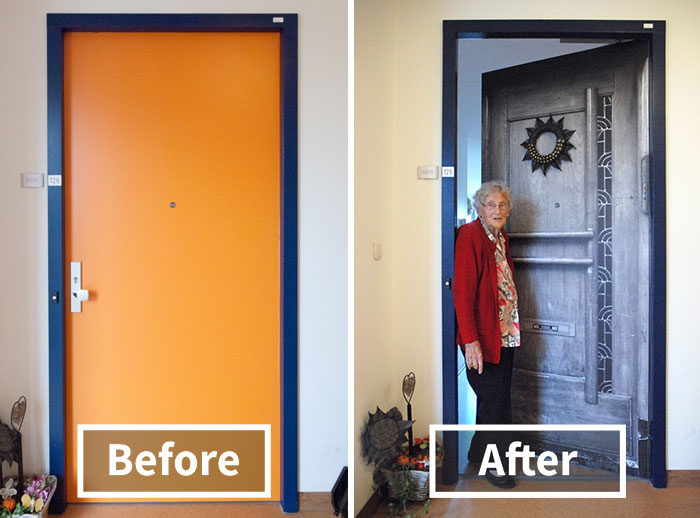 Company Recreates Doors Of Dementia Patients Houses To Help Them