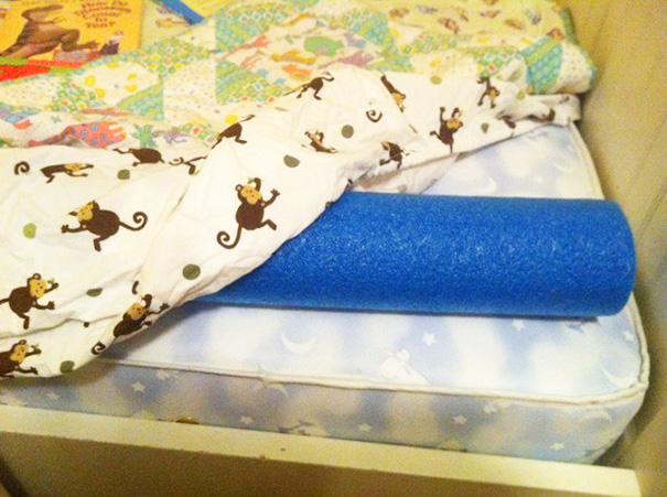 Keep Your Kids From Falling Out Of Bed With Pool Noodle
