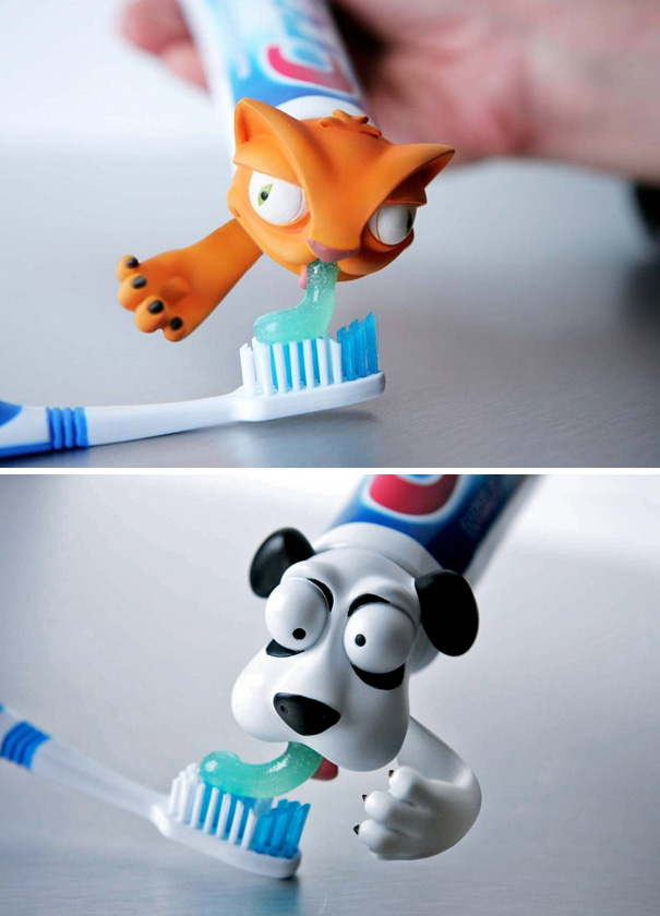 Use These Animal Toothpaste Caps So They Don't Forget To Brush Their Teeth