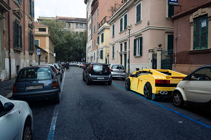 LEGO Vehicles Take Over The Streets Of Rome