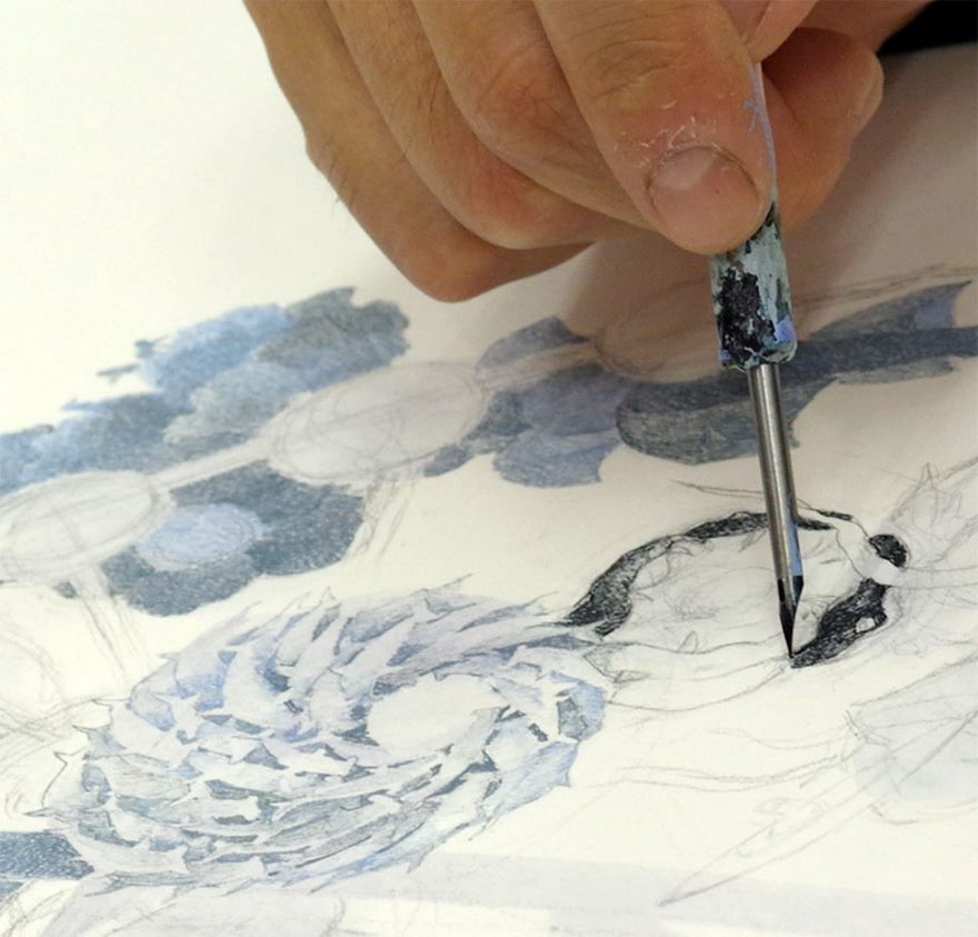japanese artist worked 10 hours day for 3 5 years to create his
