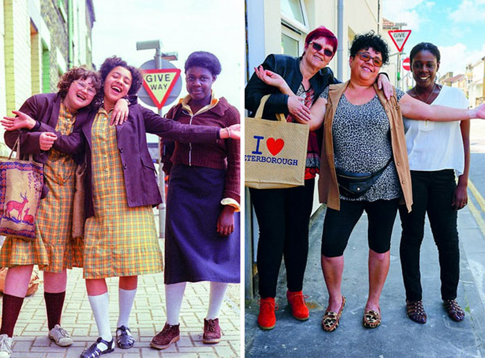 County School Girls (1979 And 2016)
