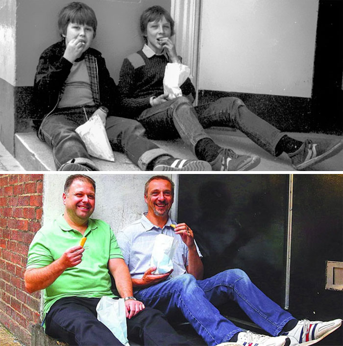 Eating Chips (1983 And 2016)