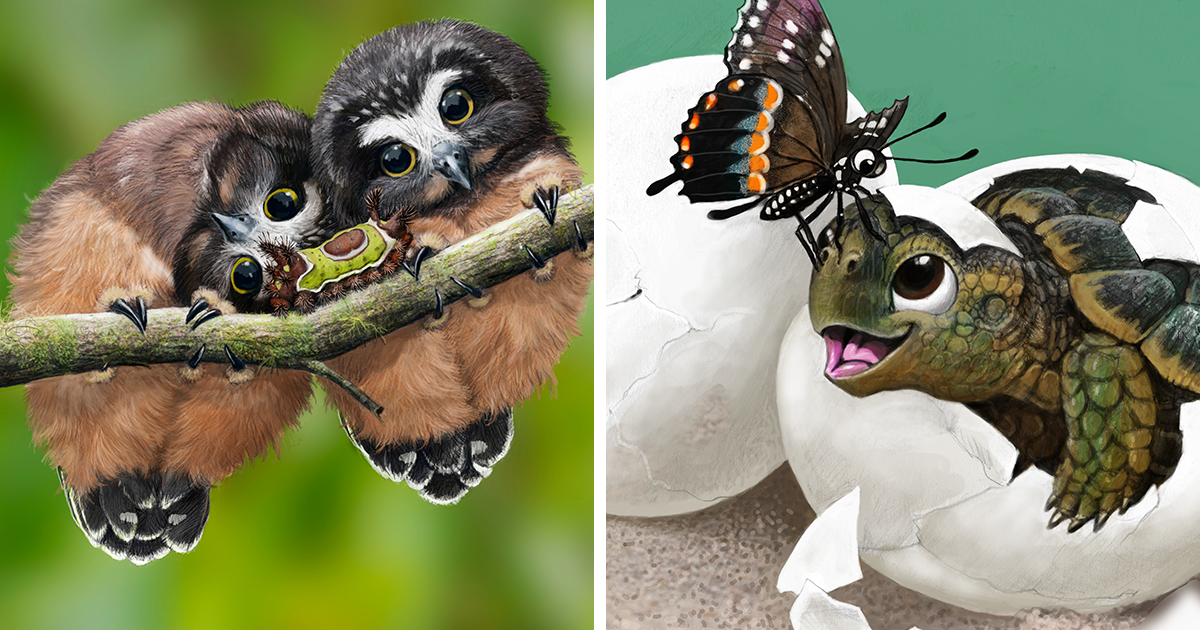 Cute Portraits Of Unexpected Animal Buddies By Blair ...