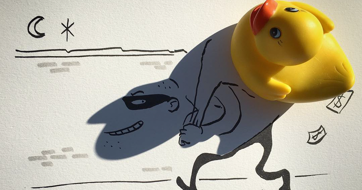 Artist Turns Shadows Of Everyday Objects Into Fun Illustrations (10+ Pics)