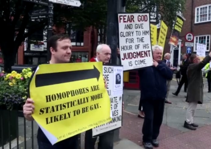 Chester Homophobes Doth Protest Too Much…