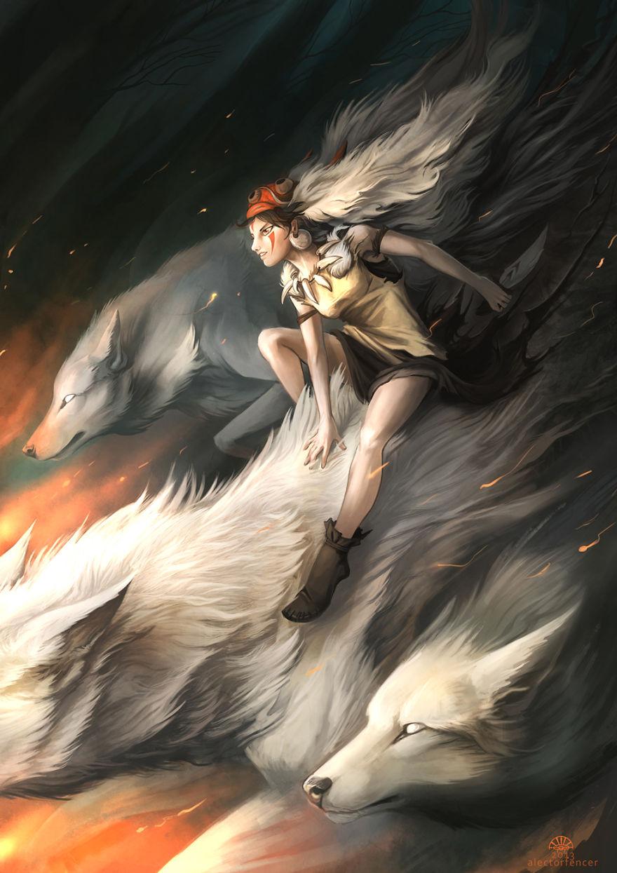 Princess Mononoke By Alector Fencer