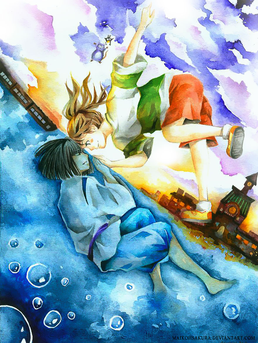 Spirited Away Watercolor Painting By Maikohsakura