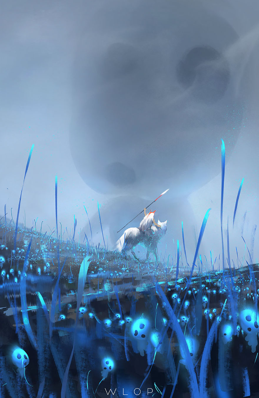 Princess Mononoke By Wlop