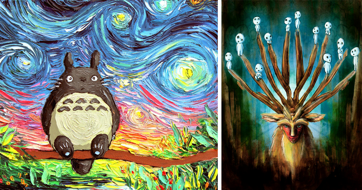 15 Studio Ghibli Inspired Paintings That Will Spirit You Away