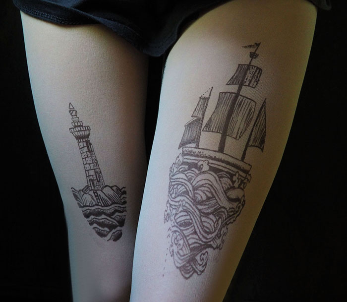 Lighthouse Ship Tights