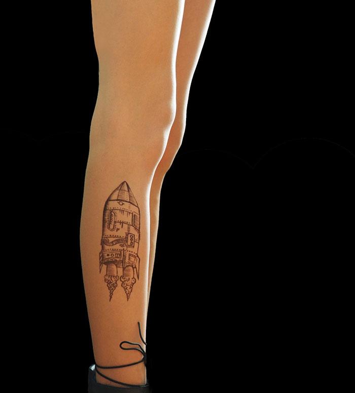 Rocket Tattoo Tights
