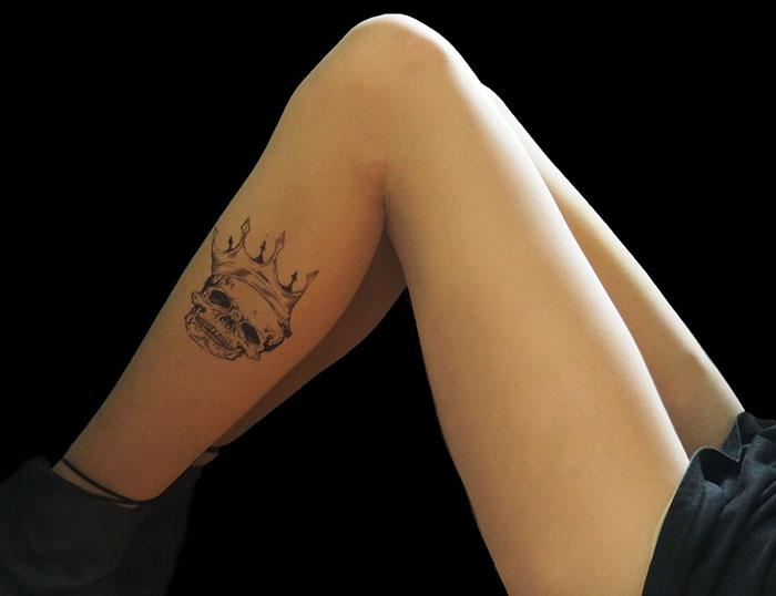 Skull Crown Tattoo Tights