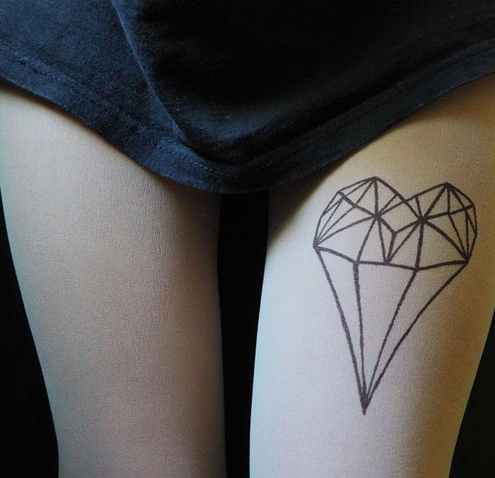 Diamond Heart Tights