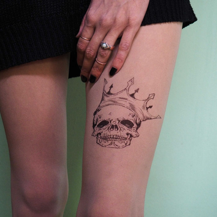Sugar Skull Tattoo Tights