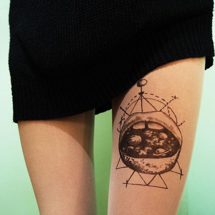 Galaxy Lips Tattoo Tights