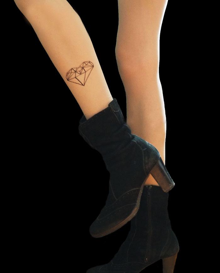 Diamond Heart Tattoo Tights