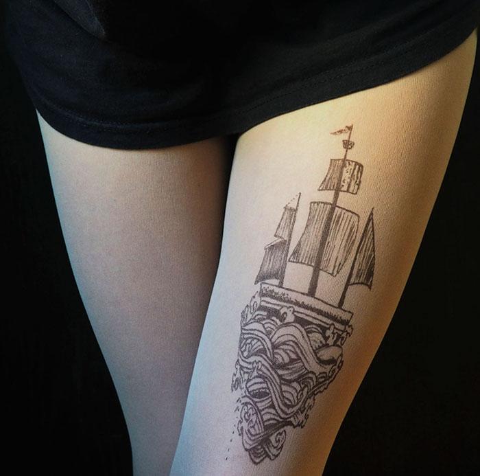 Ship Tattoo Tights