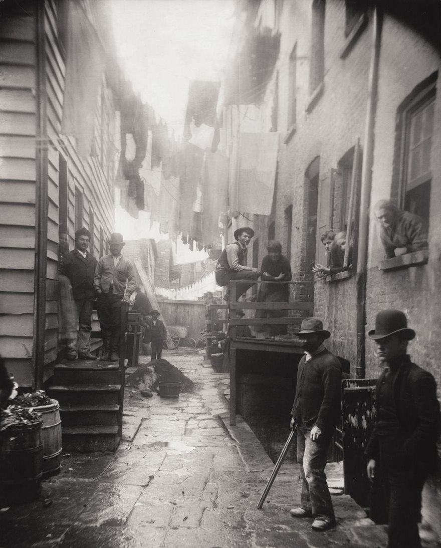 Bandit's Roost, Mulberry Street, Jacob Riis, Circa 1888