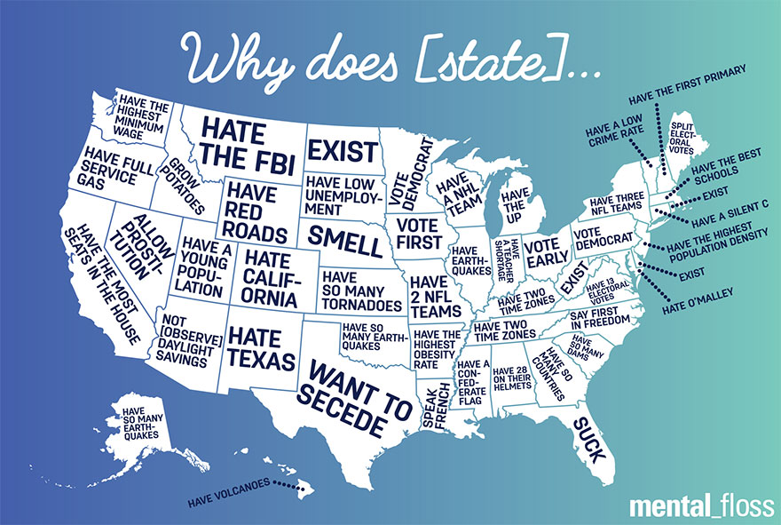Google Autocomplete Reveals What People Think Of Different US States ...
