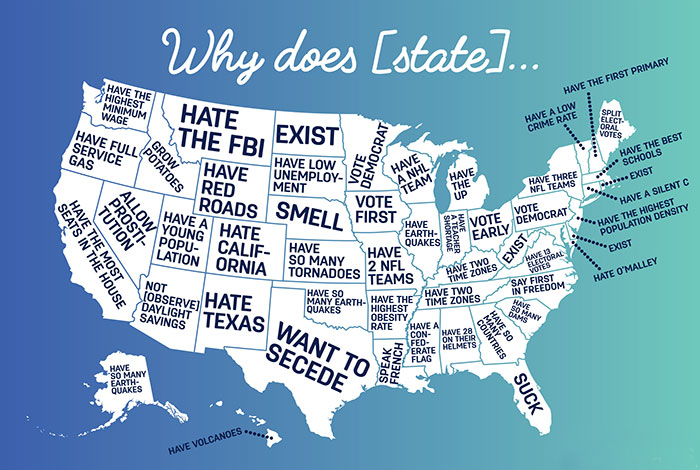 Google Autocomplete Reveals What People Think Of Different US States