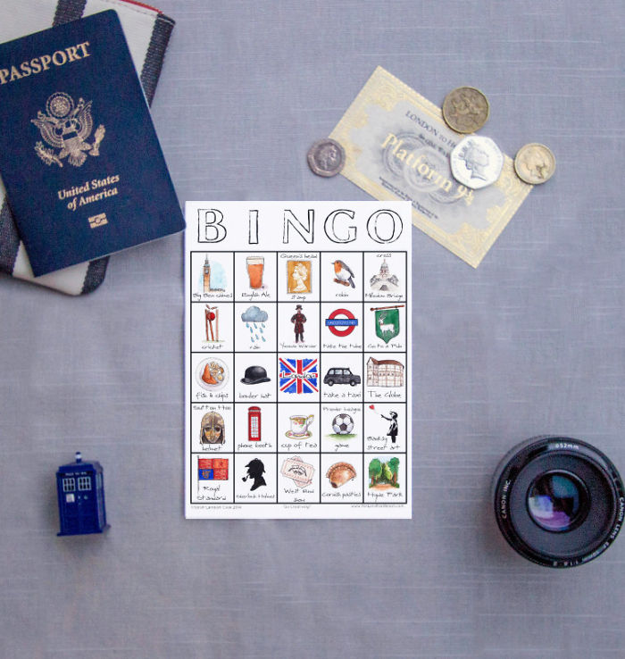 City Places To See Bingo Card