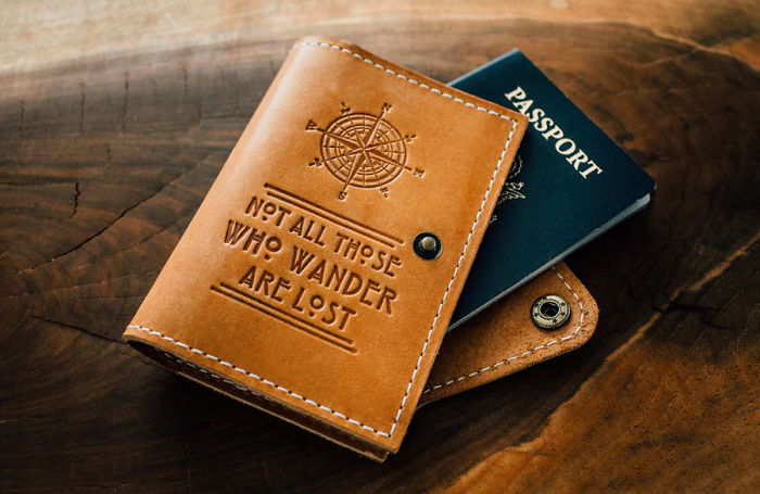 Lord Of The Rings Quote Passport Cover