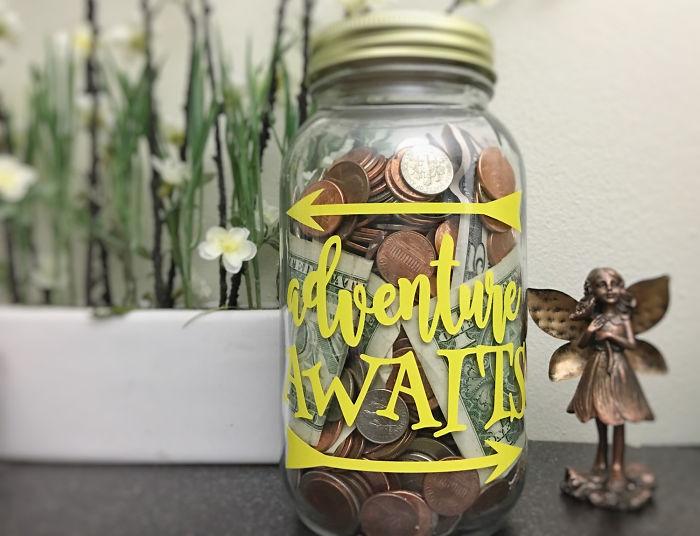 Adventure Awaits Money Jar