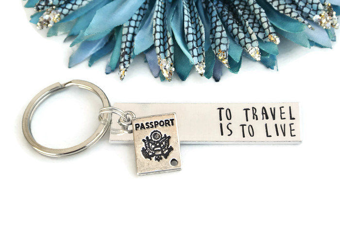 To Travel Is To Live Keychain