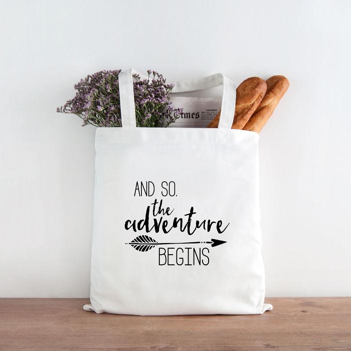 Adventure Begings Tote Bag