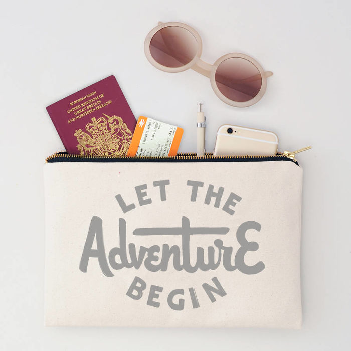 Let The Adventure Begin Zip Lock Travel Pouch