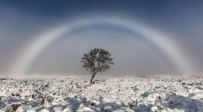 White Rainbow Above Scotland