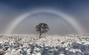 White Rainbow Above Scotland