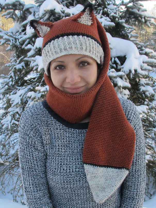 Fox Scarf And Hat