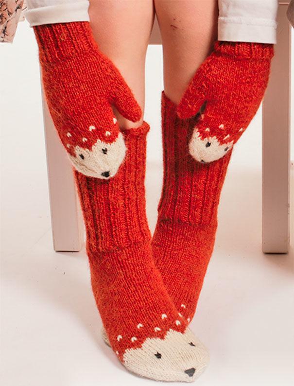 Fox Gloves And Socks Set