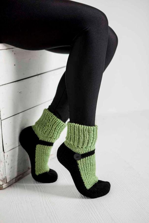 Mary Jane Slippers Socks