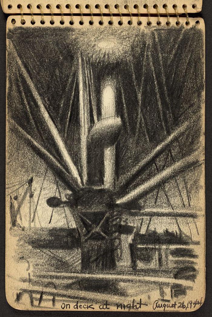 Apparatus On Ship At Night