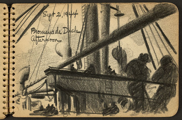 Soldiers On Deck Of Ship