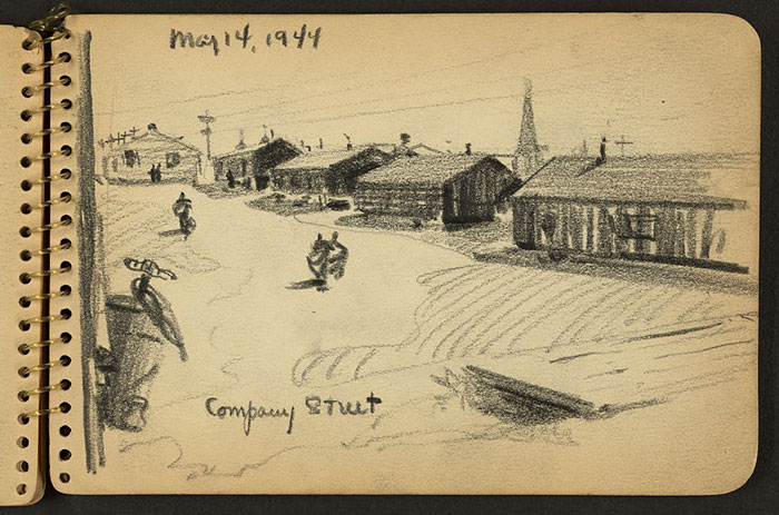 Street With Barracks At Fort Jackson, South Carolina