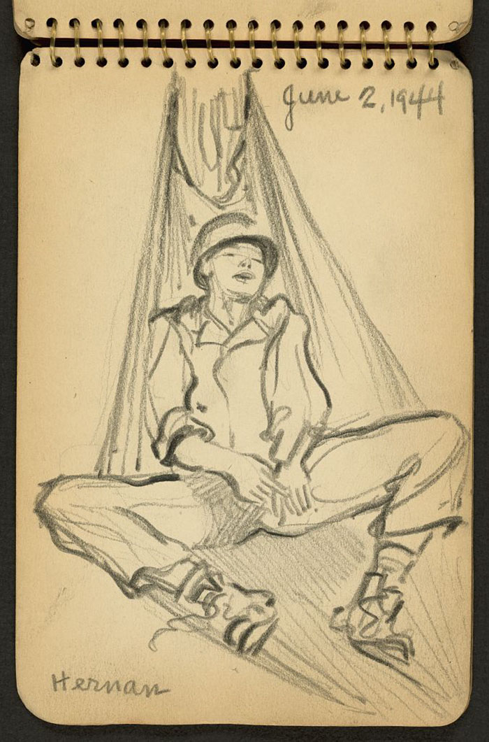 Soldier Sleeping In Hammock While Stationed At Fort Jackson, South Carolina