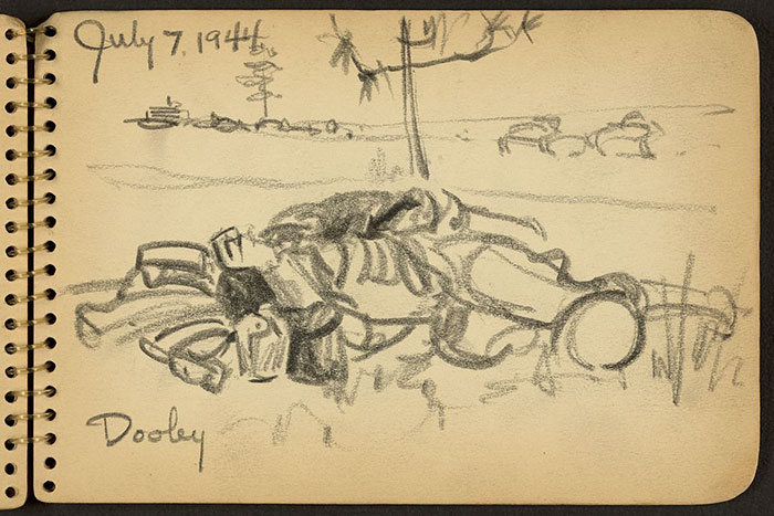 Soldier Lying On The Ground While Stationed At Fort Jackson, South Carolina