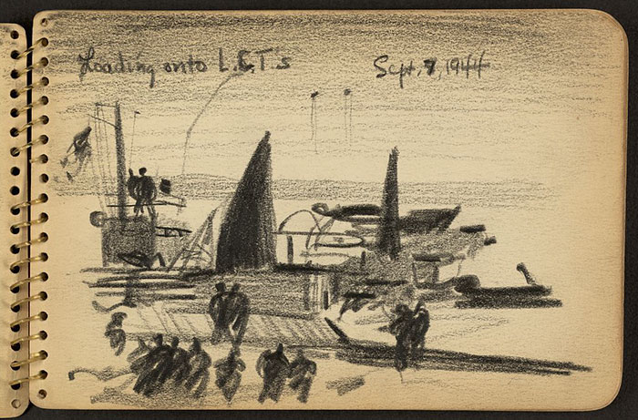 Soldiers With Landing Craft Tanks