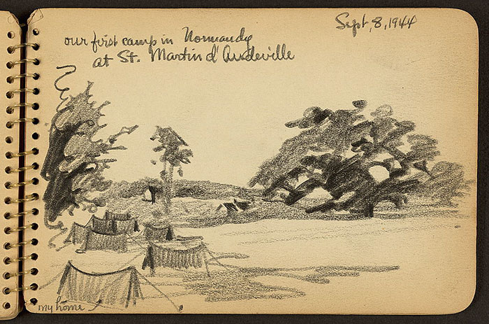 Our First Camp In Normandy At St. Martin D'Audeville